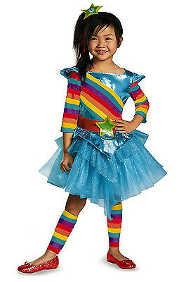 80's Flashback Rainbow Colorful Cutie Girls Toddler Tutu Child Costume XS - Toddler 80s Costume