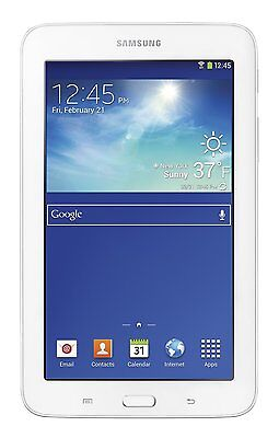 "NEW SAMSUNG GALAXY TAB E LITE SM-T113 8GB Wi-Fi 7"" WHITE GPS NOOK TABLET"