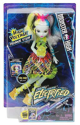 Monster High ELECTRIFIED High Voltage Frankie Stein Doll new in box! GREAT GIFT!