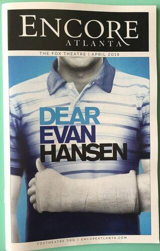 Tour Playbill Dear Evan Hansen  Ben Levi Ross  Jessica Phillips  Christiane Noll