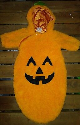 Soft Baby Pumpkin Patch Sack Costume Size 0-9 Months Orange One Piece Hoodi - Baby Pumpkin