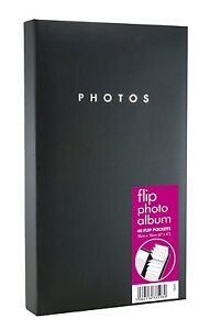 Black-Flip-Photo-Album-6-x4-40-Pockets-Holds-80-Photos