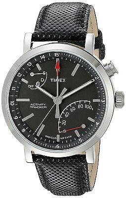 Timex Unisex Tw2p81700 Metropolitan  Activity Tracker Smart Watch With Black Lea
