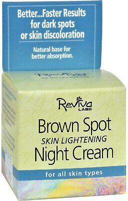 Brown Spot Skin Lightening Night Cream by Reviva Labs, 1.5 oz