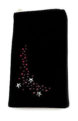 Strass Reissverschluss Handy Tasche Case f. Samsung Galaxy A50 - Etui Pink Stars Pink Strass Case
