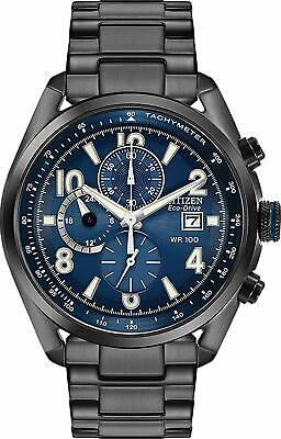 Citizen Eco-Drive Men's Chronograph Blue Multi Dial 43mm Watch CA0365-54L Citizen Eco Drive Chronograph Watch