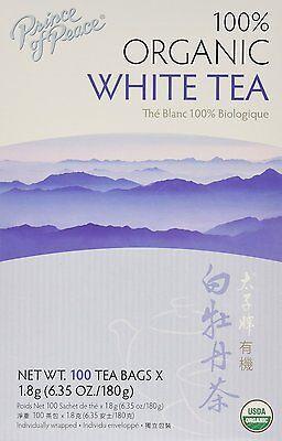 New ! Prince of Peace Organic White Tea 100 Count  6.35oz  (100% Organic White Tea)