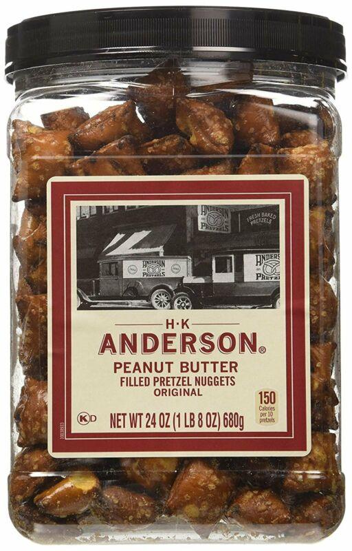 HK Anderson Peanut Butter Filled Pretzel Nuggets Original, 24 oz