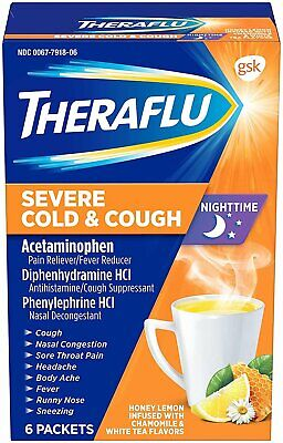 Theraflu Severe Cold and Cough Medicine for Adults and Child