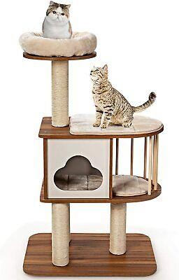 Mueble para Gatos Árbol Actividad con Poste Rascador y Colchonetas 68x48x117cm