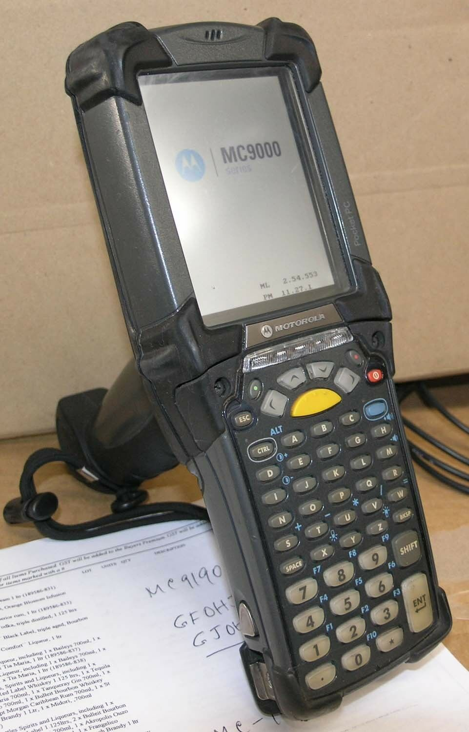 Motorola Symbol Mc9090 Handheld Scanner Mc 9090 Gfohjffa6wr With