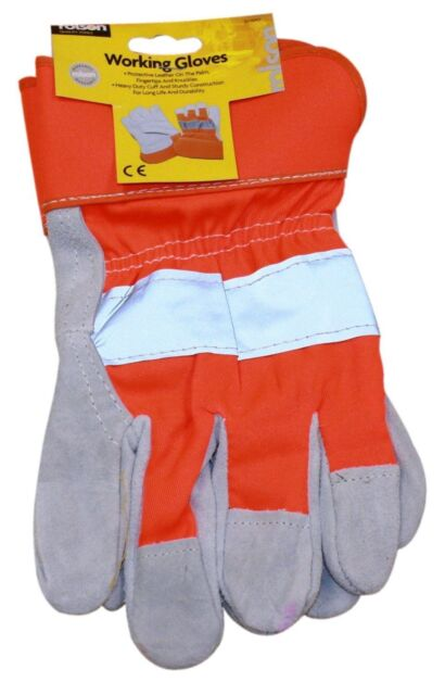 Rolson Reflective Heavy Duty Rigger Working Gloves - 60645