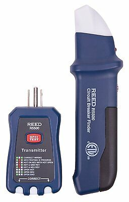 Reed Instruments R5500 3-in-1 Circuit Breaker Finder Receptacle Gfci Tester