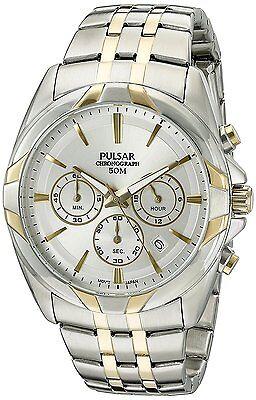 Pulsar Men's PT3684 Easy Style Chronograph Quartz Two Tone Dress Watch
