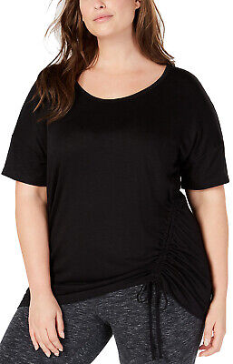 Creed Women's Plus Size Activewear Side-Top; Black (XL)