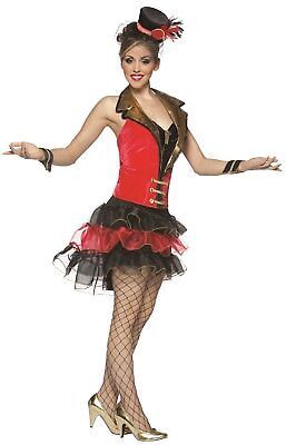 Ladies Ring Mistress Circus Big Top Carnival Hen Do Fancy Dress Costume Outfit - Big Top Circus Kostüm