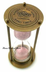 Vintage-Style-Clock-Timer-Brass-Hour-Glass-Antique-Look-Sand-Timer