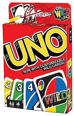 Uno Card Game Classic  Fun Family Play Cards Small Deck Wild Instructions Rules (Wild Uno Card)