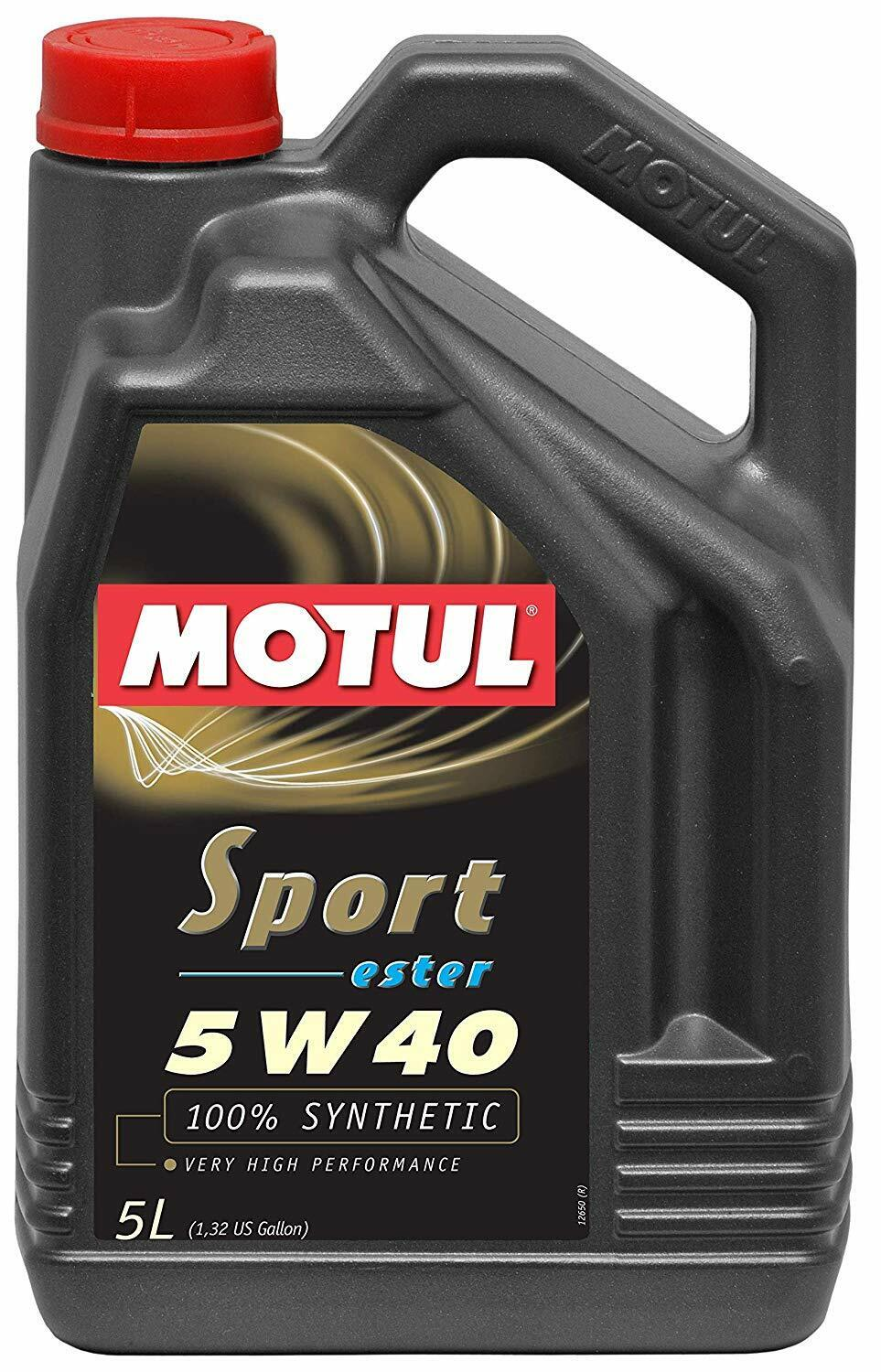 Motul 5 Liters Engine Motor Oil Fully Syntethic Ester 5W-40 Sport