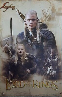 Lord Of The Rings 23x35 Legolas Collage Movie Poster