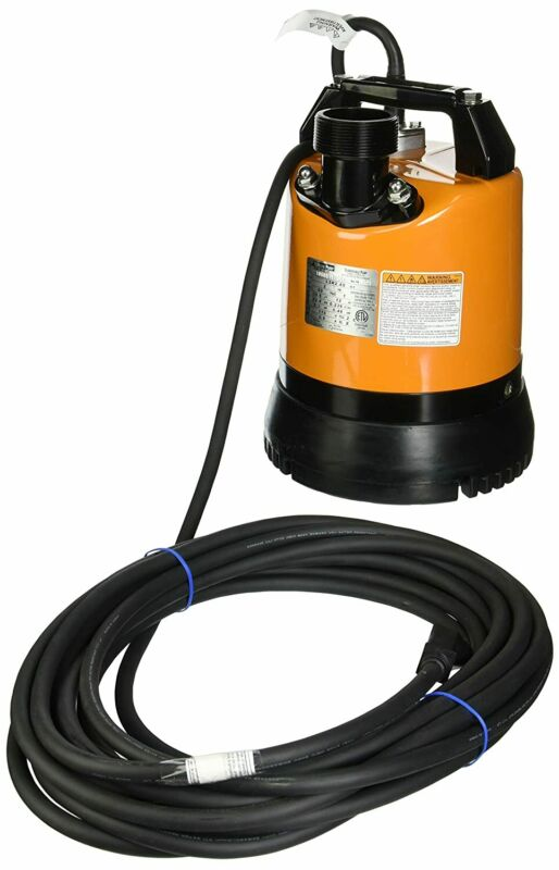 Tsurumi LSR2.4S-60 Low-Level Submersible Dewatering Pump, 2/3 HP