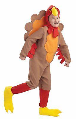 Turkey - Unisex Novelty Fleece Child Costume w/ Hood & Shoe Covers