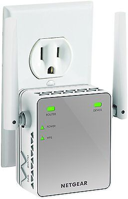 New Wireless WiFi Internet Range Booster Extender Plug In Router Signal Increase