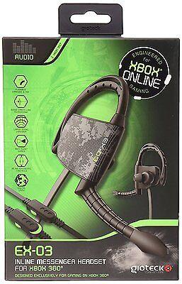 Gioteck EX-03 Black Ear Hook Inline Xbox 360 Controller Chat Headset Urban Camo comprar usado  Enviando para Brazil