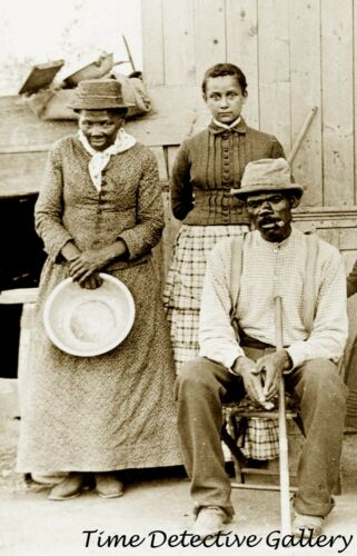 Harriet Tubman, Husband Nelson Davis, & Daughter Gertie - Historic Photo Print