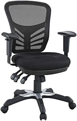 Modway Articulate Ergonomic Mesh Office Chair In Black Eei-757-blk