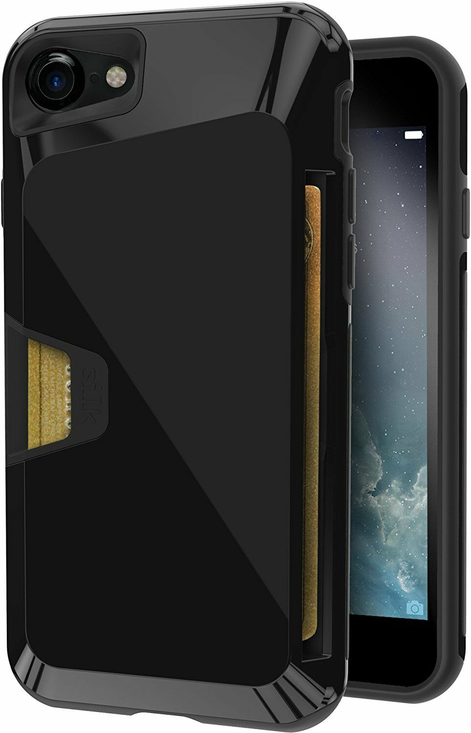 Smartish Phone 7/8 and 7+/8+ Wallet Case, Vault Armor Grip C