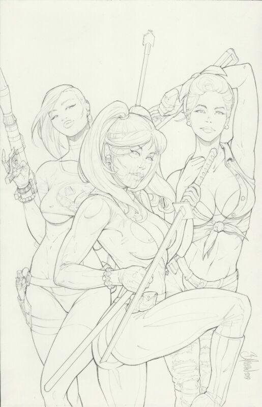 Gaslighters Issue 1B Original Cover Art Pencil Drawing by Bryan Pedersen