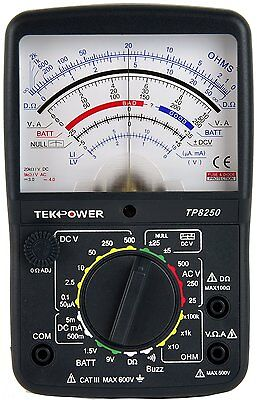 Tekpower Tp8250 Acdc Analog Multimeter With Null Middle Position 0