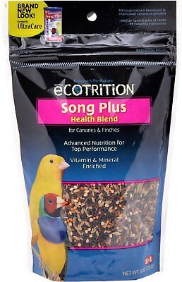 eCOTRITION Song Plus Health Blend Canary & Finch Bird Food, 8-oz -