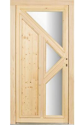 kuporta Holz Haustüren Schrecksbach Holzhaustür Fichte Haustür Holztüren