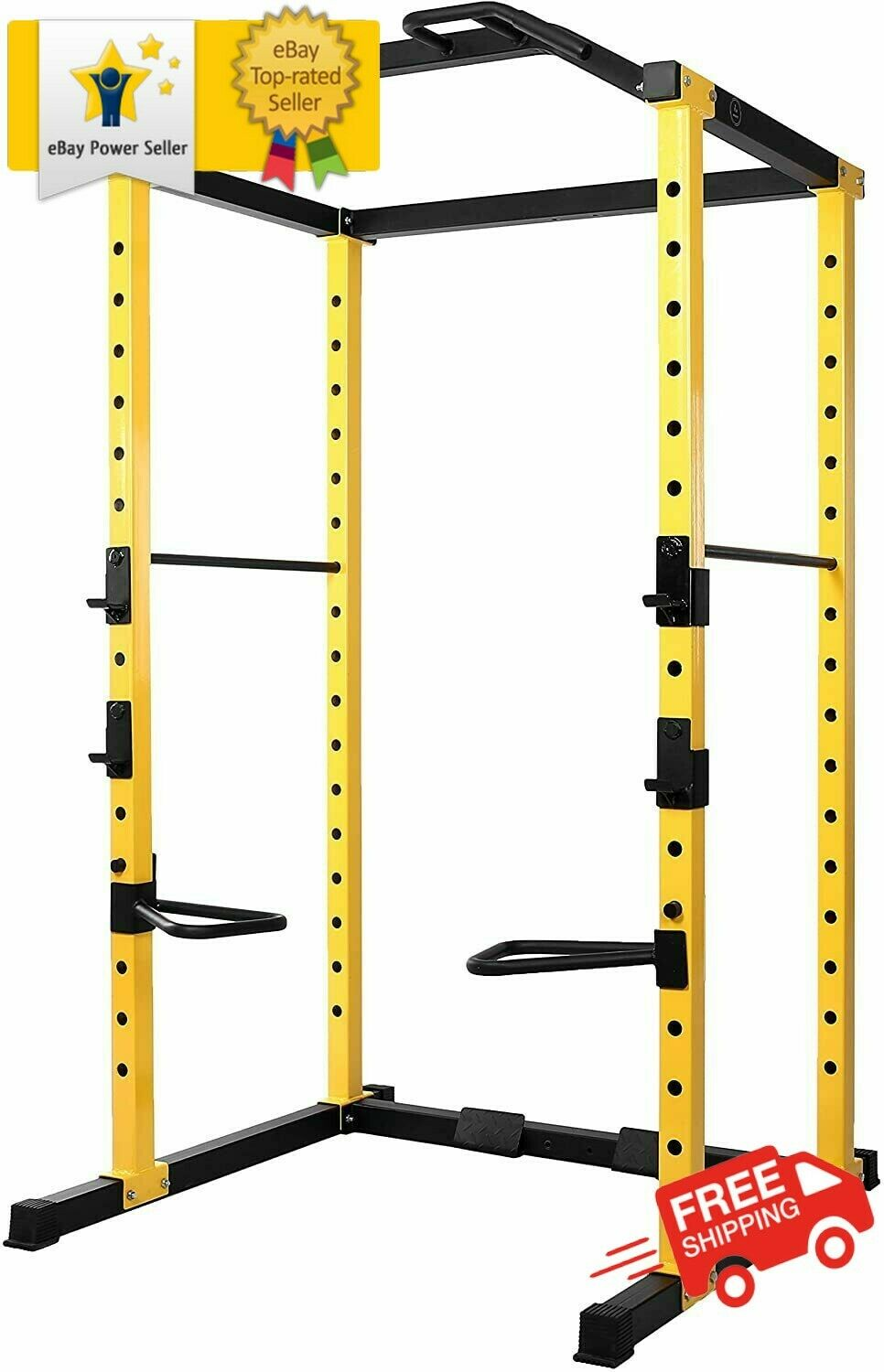 power cage squat rack lat pull 1000