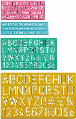 Letter Number Stencil Template Set Small Tiny Sizes Craft Paper Dremel Engraver Small Letter Set