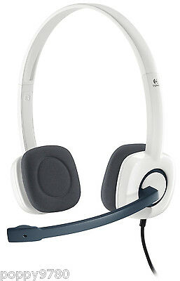 Logitech H150 Stereo Headset Cloud w/ Microphone White Computer Skype 981-000350 segunda mano  Embacar hacia Mexico