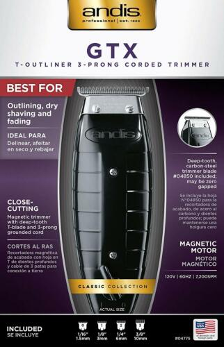 Andis Professional GTX T-Outliner Beard/Hair Trimmer, Black