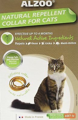 ALZOO FLEA & TICK CAT COLLAR 4 MONTH NATURAL ALTERNATIVE TO CHEMICAL.FREESHIPUSA 4 Month Cat Flea Collar