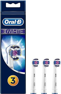 Oral-B Braun 3D White Electric Toothbrush Replacement Head - 3 Refill Brushes