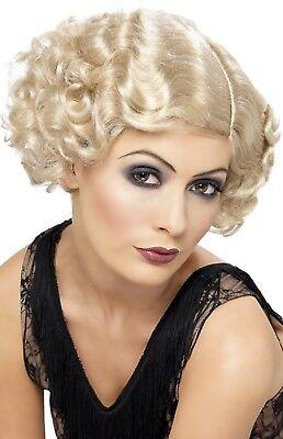 0er Blond Flapper Gnade Kostüm Kleid Outfit Zubehör Perücke (20er Outfit)