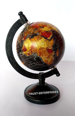 Collectible Nautical Tadble World Globe Black Base Authentic Model office Decor