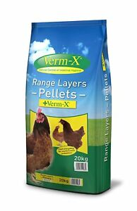 20kg Copdock Mill Poultry/Chicken Range Layers Pellets With Verm-X Wormer