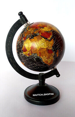 Nautical Collectible Tadble World Globe Black Base Authentic Model office Decor