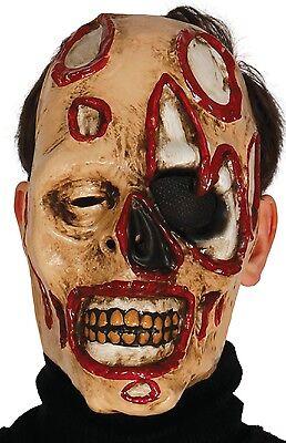 Herren Zombie Gesichtsmaske Blood Pistole Bild Kostüm Verkleidung (Zombie Kostüme Bilder)