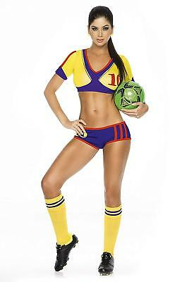 Soccer Player Costume (Mapale Columbia Tierra Querida! Soccer Player Outfit, Small -)