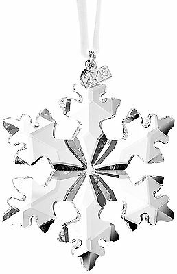 2016 Swarovski Crystal Christmas Ornament Annual Edition Snowflake New #5180210
