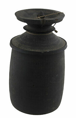 Antique Pot in Milk Ghee Tsampa Butter Teki Wood Turned Himalaya Nepal Tibet