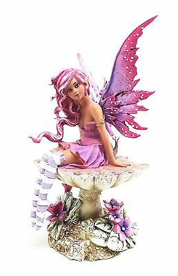 Magenta Sun Kissed Faery Tea Cup Fairy Statue Figurine Amy Brown Art  Collection